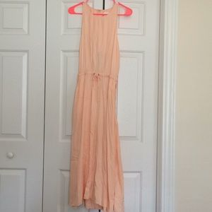 Peach Lou and Grey Dress.